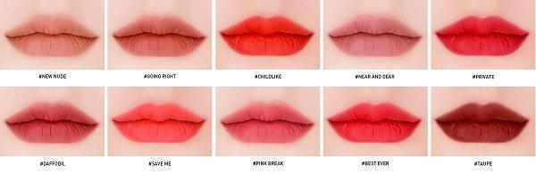 Son kem lì 3CE Velvet Lip Tint 10 màu giá 300 nghìn 12