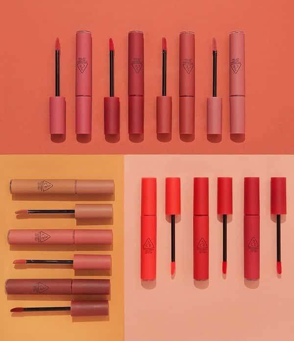 Son kem lì 3CE Velvet Lip Tint 10 màu giá 300 nghìn