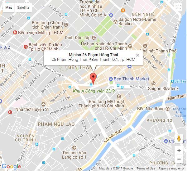 địa chỉ cửa hàng miniso tại tphcm