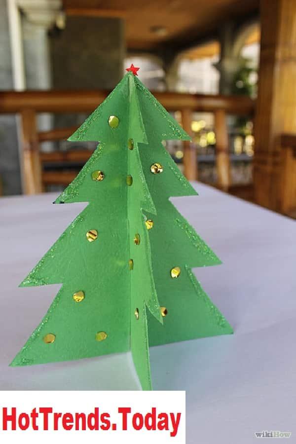cách làm cây thông noel bằng giấy cứng 10