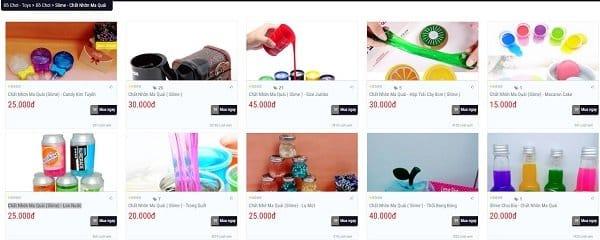 shop bán slime giá rẻ tại tphcm