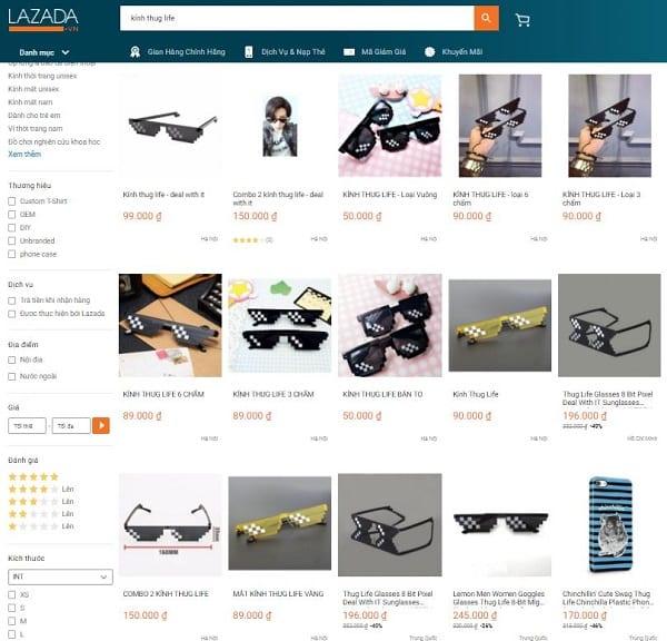 Tổng hợp các shop bán kính Thug Life tại TPHCM & Hà Nội đẹp giá dưới 100K