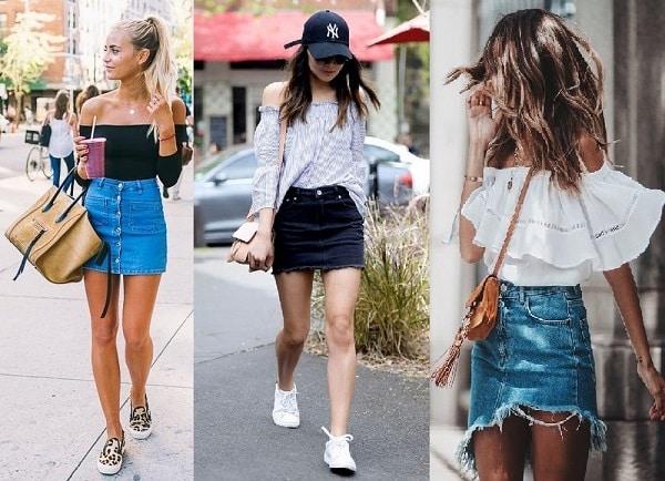 hình ảnh 99+ Gợi ý chân váy jean kết hợp với áo gì và giày gì đẹp nhất - số 1
