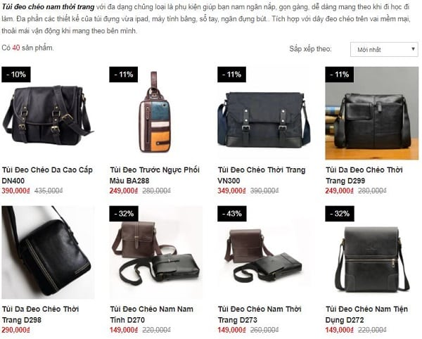 Bật mí 10 shop bán túi đeo chéo nam TPHCM đẹp giá rẻ nhất