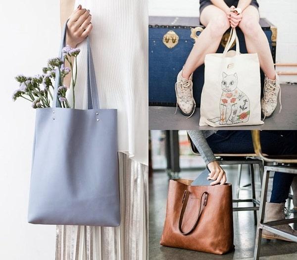 hình ảnh 100+ mẫu túi tote đeo chéo vải bố, da đẹp nhất & cách mix đồ cực xinh - số 3