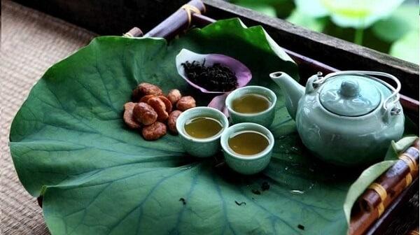 Loại trà uống cho người bị mỡ máu -Trà lúa mạch lá sen