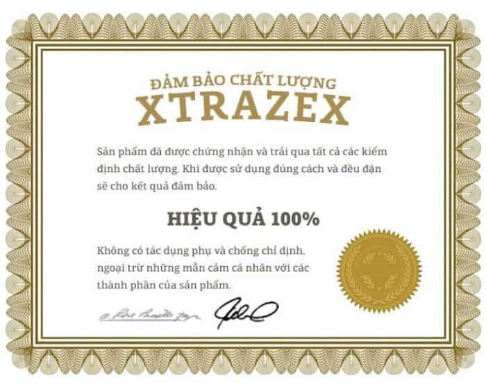 giấy phép của xtrazex