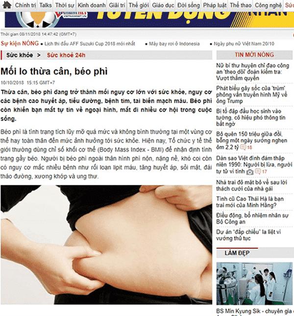 Báo chíđánh giá thế nào về viên giảm cân Hoa Bảo 2