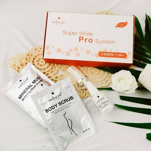 Kem tắm trắng Sakura Super White Pro System