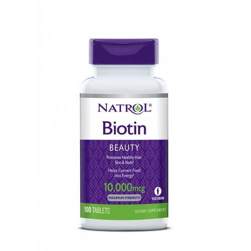 Thuốc mọc tóc Natrol Biotin của Mỹ