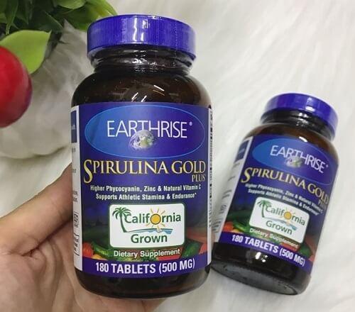 Thuốc tăng cân tảo mặt trời Spirulina Gold Plus của Mỹ