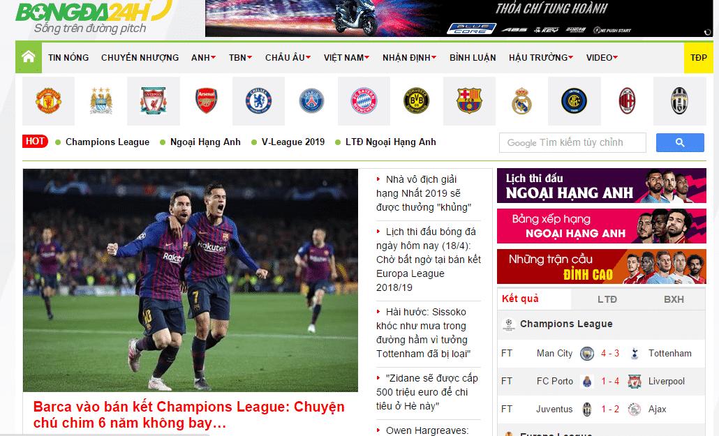 hình ảnh Danh sách top 10 website về bóng đá, thể thao hàng đầu ấn tượng - số 5