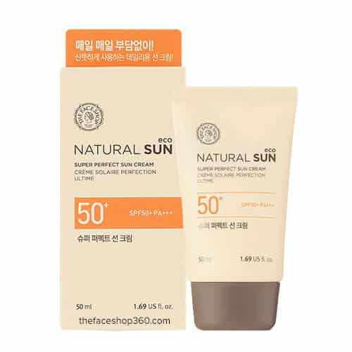 Kem chống nắng The Face Shop Natural Sun Eco Powder Long-Lasting Sun Cream SPF50+ PA+++