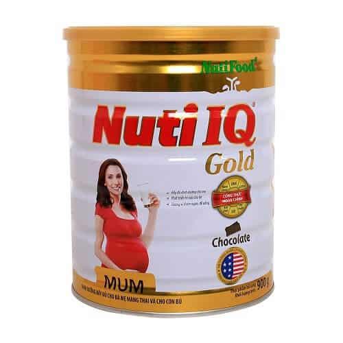 Sữa tốt nhất cho bà bầu - Nuti IQ Gold Mum