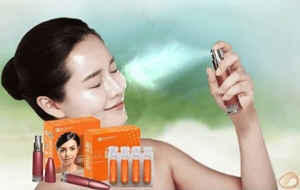cách dùng xịt trị mụn skin fresh