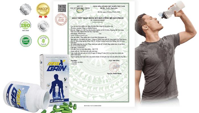 giấy phép viên uống tăng cân maxx gain