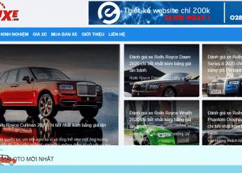 trang web mua bán xe ô tô uy tín