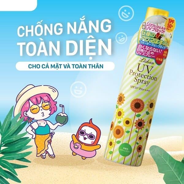 Xịt chống nắng Lishan Aroma có tốt không, giá bao nhiêu, nên mua ở đâu?