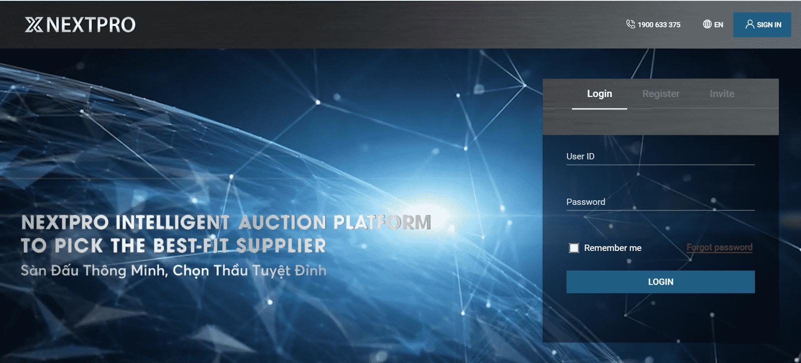 hình ảnh NextPro - dịch vụ đăng ký đấu thầu qua mạng uy tín và chất lượng - số 3