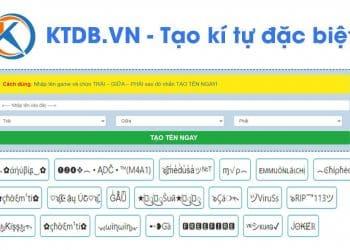 hình ảnh KTDB.VN Công cụ tạo kí tự đặc biệt tạo tên game đẹp nhất - số 2